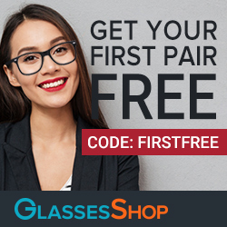 Get Your First Pair Free at GlassesShop with code FIRSTFREE. Limited Time Offer!