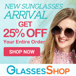 New Sunglasses Arrival! Take 25% Off Your Entire Order at GlassesShop.com with Code SUN25! Offer Expires 05/31.