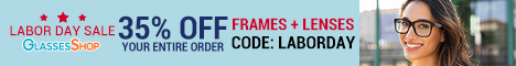 Labor Day Sale - Save 35% Off Your Entire Order (Frames + Lenses) with code LABORDAY.  Offer Expires 09/12/2020