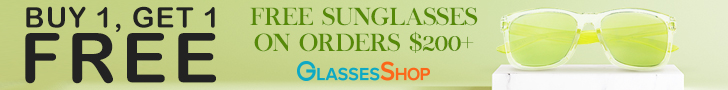 BOGO at GlassesShop! FREE Frame + Lenses And FREE Sunglasses with $200+  Code GSBOGO. Expires 3/31