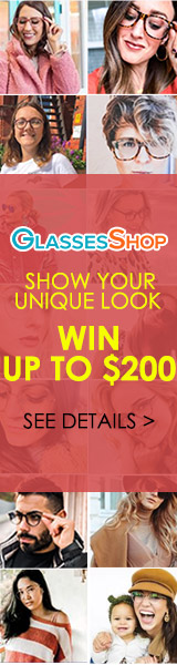 Show us Your Look in Glasses, Win up to $200 Cash