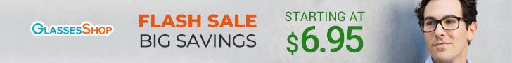 Flash Sale at GlassesShop!