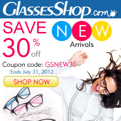 30% Off for New Arrivals From Glasses Shop