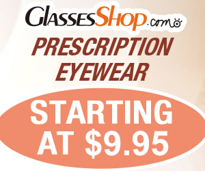 Prescription Eyewear Starting at $9.95 at Glasses Shop.com