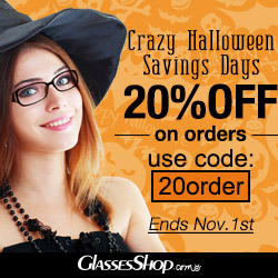 Crazy Halloween savings! 20% off on all orders, use code 20order. Hurry, ends Nov. 1st, 2014.