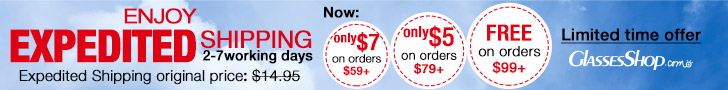 Enjoy expedited shipping(2-7 working days). Only $7 on orders $59+. Only $5 on orders $79+. Free expedited shipping on orders $99+. Ends 12/31/2014. Limited time offer, hurry up!
