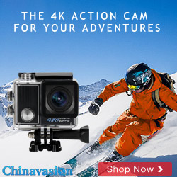The 4K action cam for your adventures Chinavasion Banner
