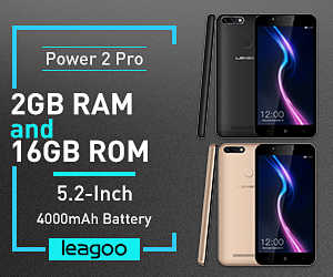 Gold LEAGOO POWER 2 PRO