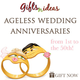 Ageless Wedding Anniversaries from 1st to the 50th!
