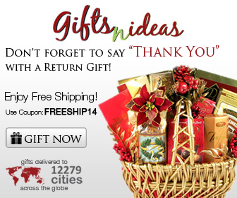 Don't Forget To Say Thank You With a Return Gift!