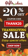 20% off on thanksgiving gifts !