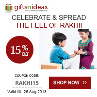 Handsome your brother's Wrist with our Rakhi @15% Off. Use Coupon Code: RAKHI15