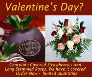 Valentines  hand dipped chocolate covered strawberries, roses and floral delivered fresh to you