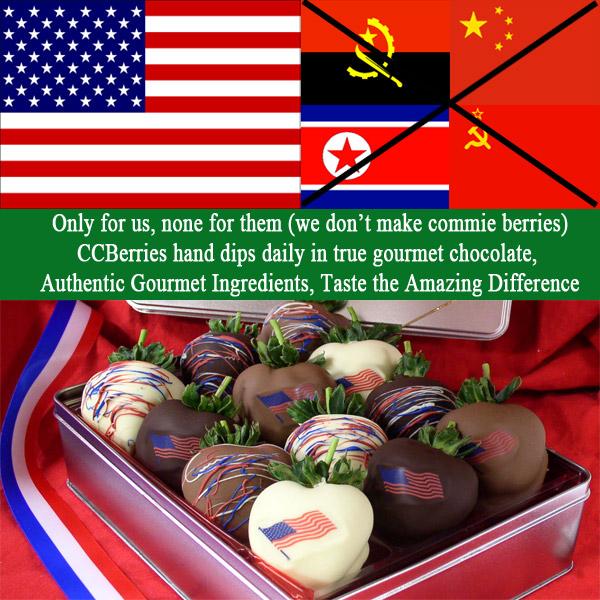 Custom fresh chocolate covered strawberries from CCBerries