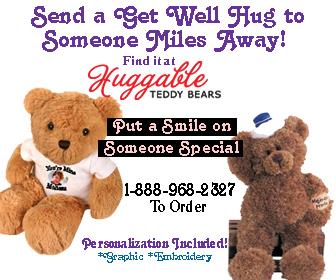 Get Well Teddy Bears - Huggable Teddy Bears