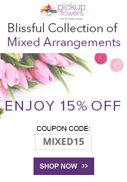 You're invited: 15% off! Blissful Mixed Arrangements.
