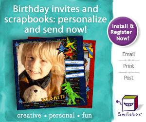 digital scrapbooking and invites, add text, music and post!