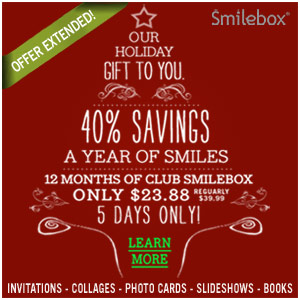 Get 40% off Club Smilebox annual subscription.