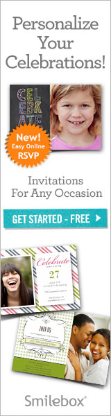 Send personalized invitations with Smilebox.