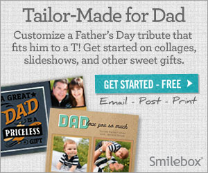 Create a unique Father's Day gift with Smilebox.