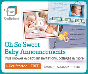 Send photo baby announcements with Smilebox.