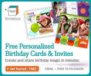 Send personalized birthday greetings with Smilebox.