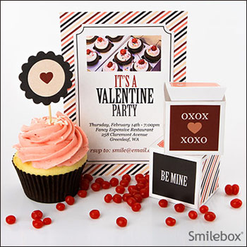 Valentine printables from Smilebox.