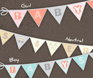 Free baby shower banner printables from Smilebox.