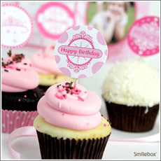 Free printable princess cupcake toppers from Smilebox.