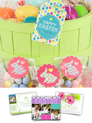 Free printable Easter basket tags from Smilebox.