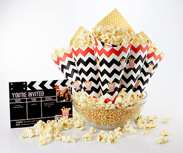 Free printable movie night popcorn cones from Smilebox.