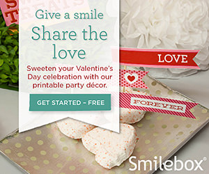 Valentine party printables from Smilebox.