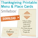 Download free Thanksgiving menu and place cards from Smilebox.