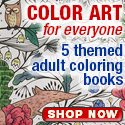 Adult Coloring Books by Leisure Arts