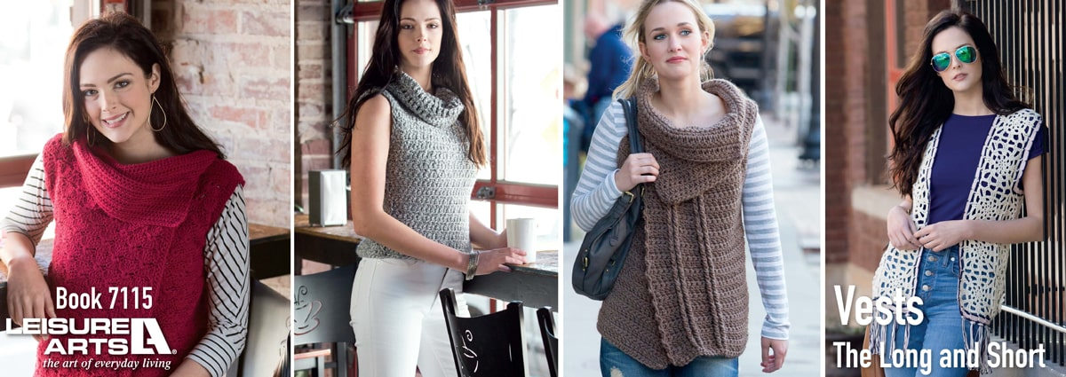 Vests The Long & Short - 7 Easy Crochet Vest Patterns