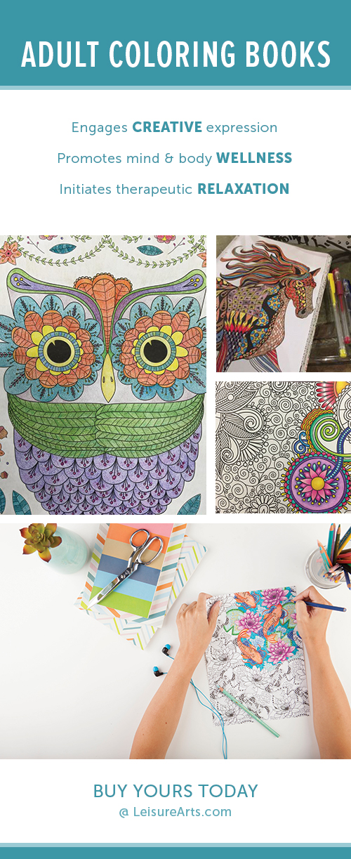 Shop Adult Coloring Books at Leisure Arts