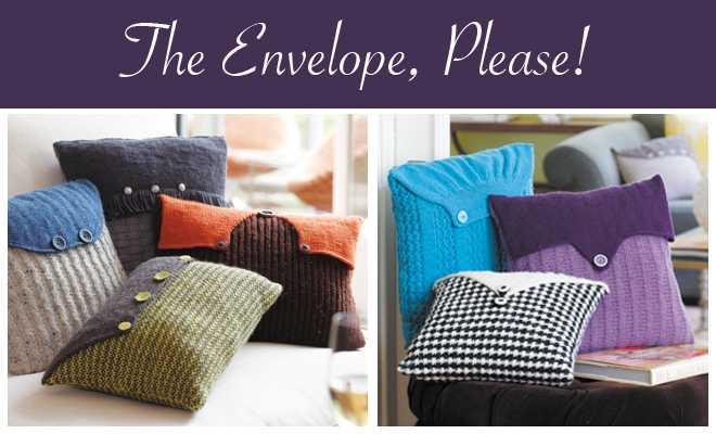 Knit Envelope Pillows