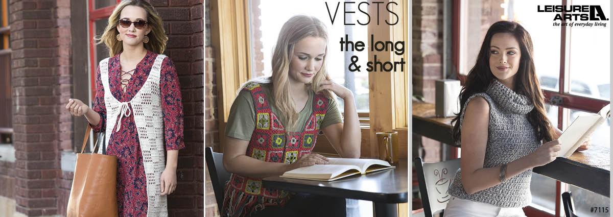 Vests The Long & Short - 7 Easy Crochet Vest Patterns