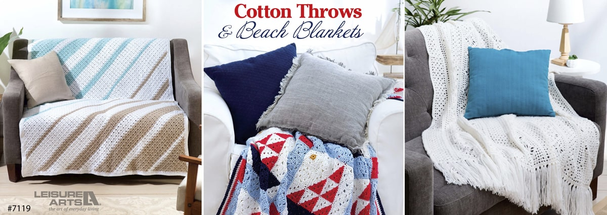 Cotton Throws & Beach Blankets – 6 Lightweight Projects Perfect for Indoors & Out