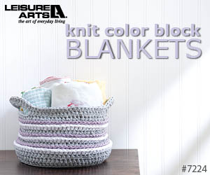 Knit Color Block Blankets - 9 Easy To Knit Baby Blankets By Kristi Simpson