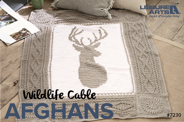 crochet cable wildlife afghans