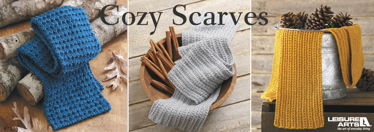 Cozy Scarves To Gift - 9 Easy Designs By Margret Willson