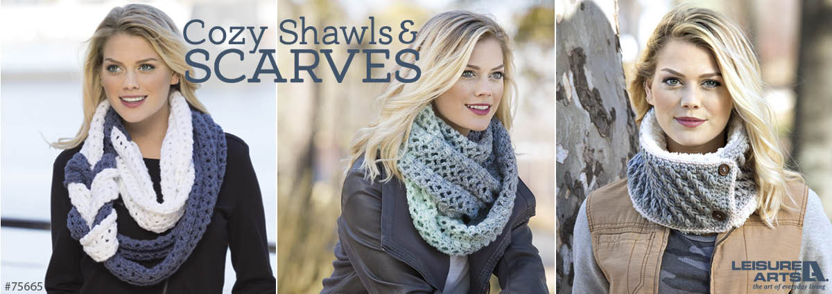 cozy scarves & cowls by Christine Naugle