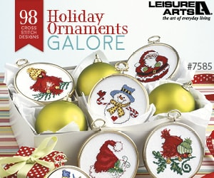Holiday Ornaments Galore – 98 Cross Stitch Designs