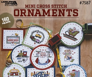 Mini Cross Stitch Ornaments - 160 Projects