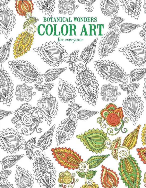 Botanical Wonders Color Art for Everyone