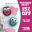 Senior and Teachers discount 15 percent off your order