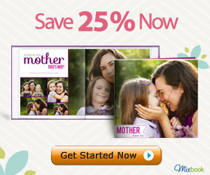 Save 25% on all products for Mother's Day