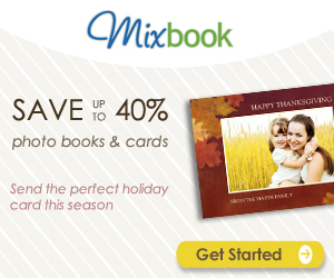 Save up to 40% at Mixbook