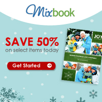 Save up to 50% at Mixbook